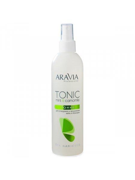 ARAVIA Professional Тоник для очищения и увлажнения кожи с мятой и ромашкой, 300 мл